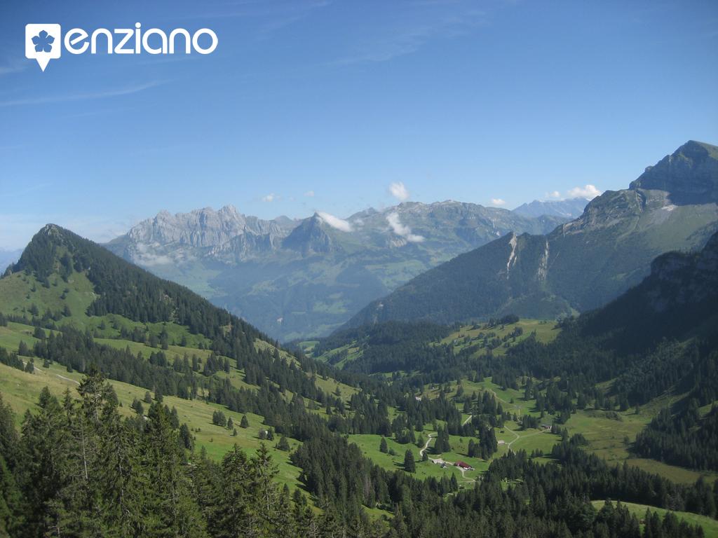 Blick vom Brüggler nach Glarus