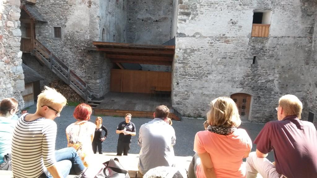 Sessions im Burghof beim Castlecamp