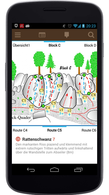 Kletter-App mit Topo