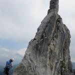 13-Spitze-des-Gmelchturms-Kampenwand-Klettern