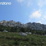 Topo Frontalansicht der Kampenwandüberschreitung Route