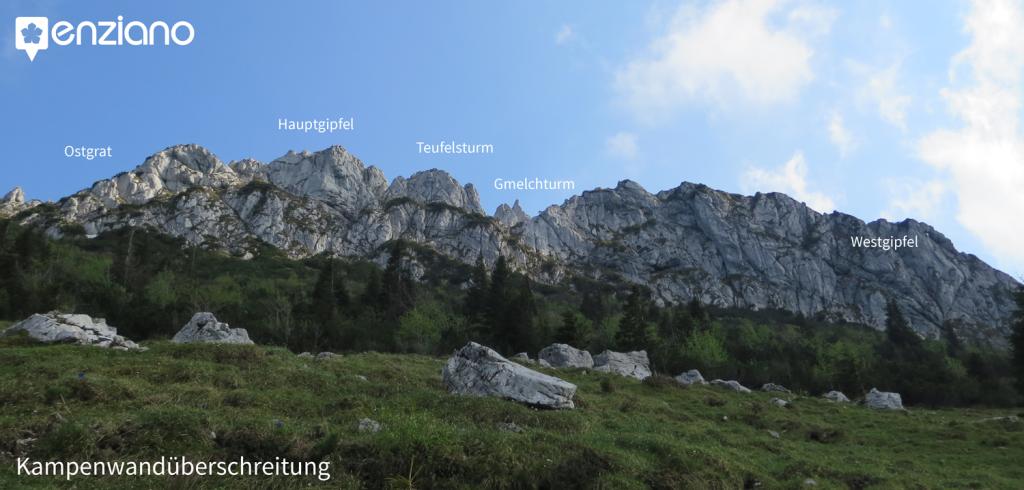 Topo der Kampenwandüberschreitung (Klettern)