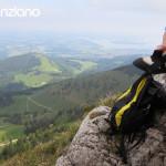 Klettern auf der Kampenwand Ausblick auf den Chiemsee