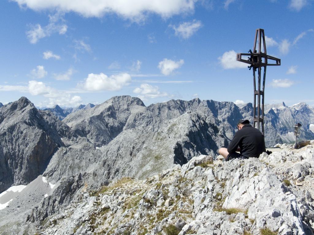 Gipfelrast auf der Lamsenspitze