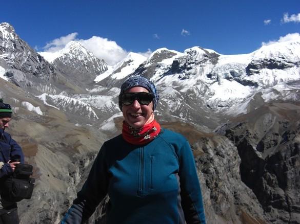 Die Gipfelglück Bloggerin Steffi in Nepal (Foto: Stefanie Dehler)