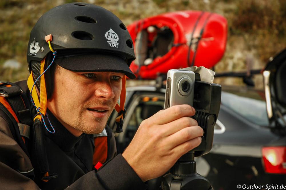 """Mobiles """"Bloggen"""" 2006 beim Paddeln (Foto: Rene Saathoff)"""