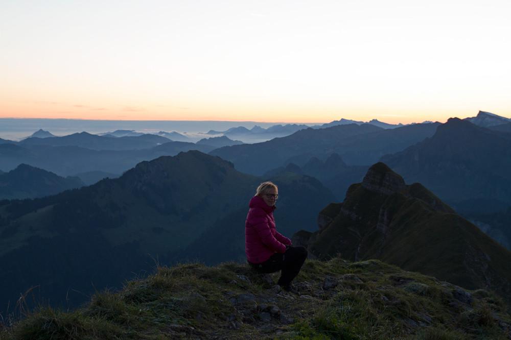 Die Sonne spielt in meinem Leben eine besondere Rolle, entsprechend war ich von diesem Sonnenaufgang auf der Kanisfluh im Bregenzerwald total ergriffen. (Foto: Daniela Trauthwein)