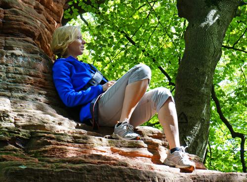 Bei den Altschlossfelsen im Pfälzerwald kann man unglaublich schöne Stimmungen einfangen. (Foto: Daniela Trauthwein)