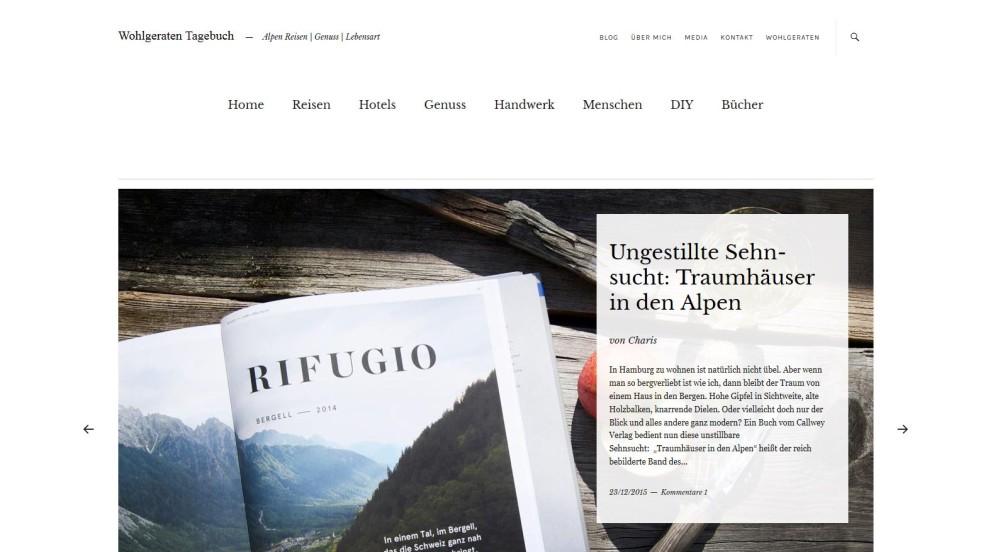Outdoorblog Wohlgeraten Tagebuch - Alpen, Reisen, Genuss, Lebensart