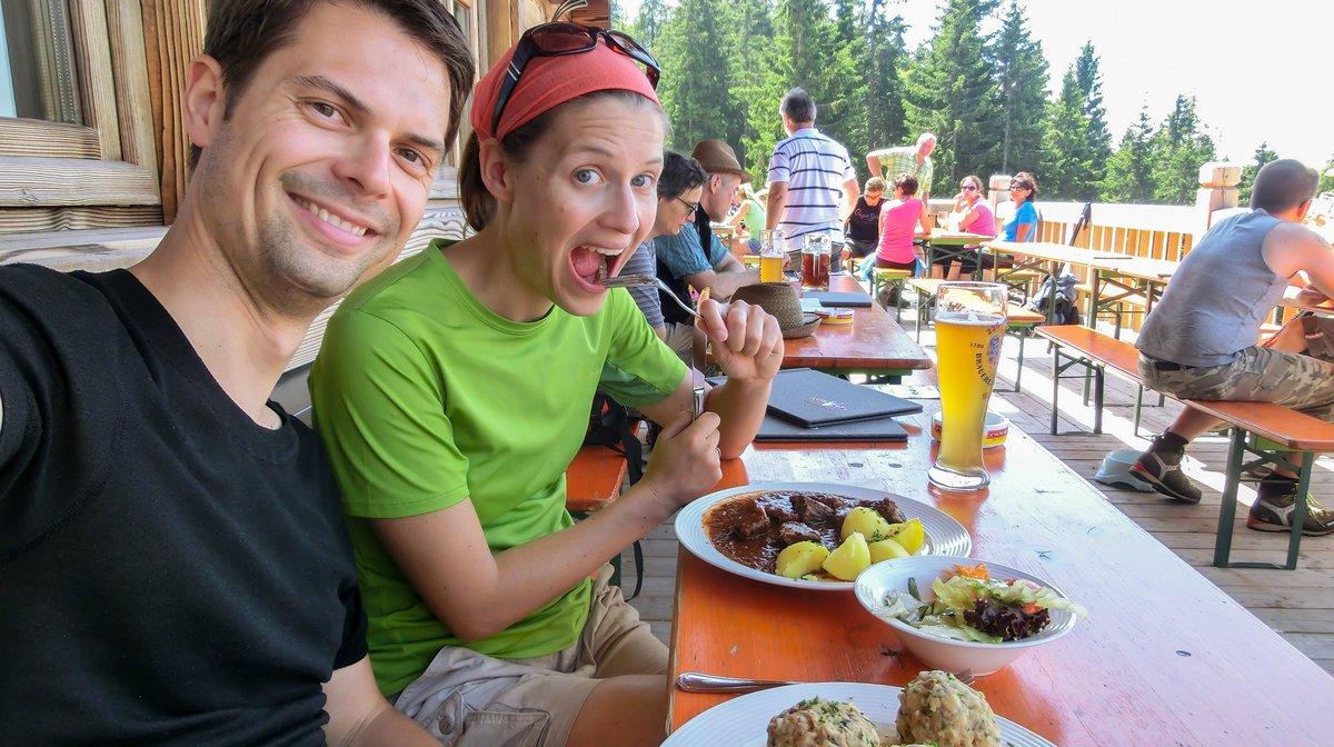 Wandern Pendling Mittagessen Kala Alm