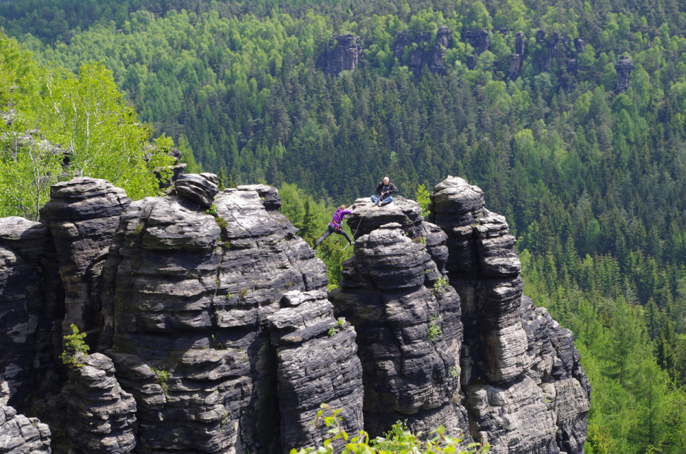 Jungfernsprung-Klettern-Sachsen
