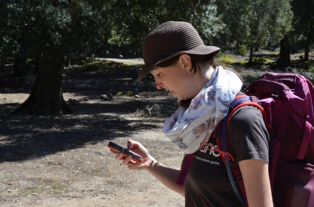 Wegverlauf überprüfen in der App auf dem Smartphone