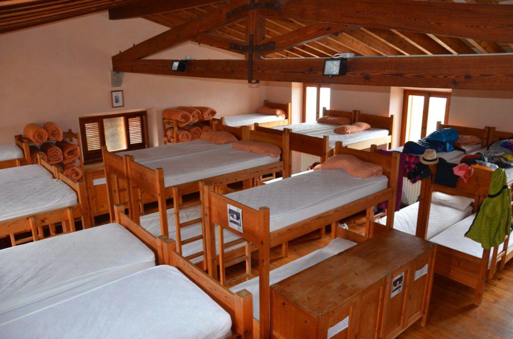 Die Betten im Refugi Muleta