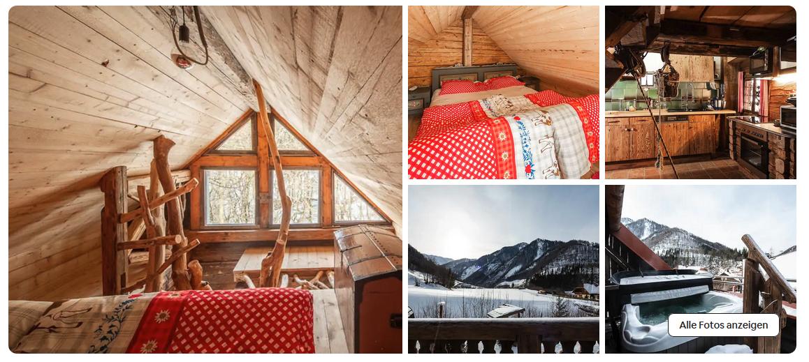 Romantische Berghütte auf AirBnB